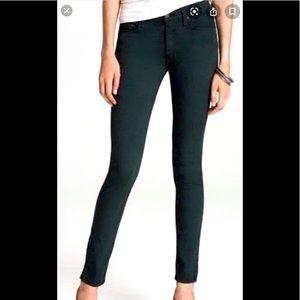RAG & BONE Forest Green Mid-Rise Skinny Jeans 30